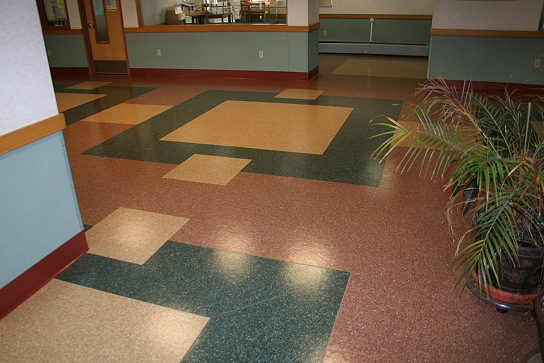Linoleum flooring composition